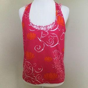 Nike dri fit tank top floral w contrast bra